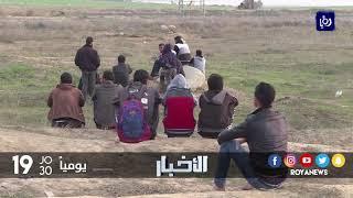 اصابة عدد من ابناء غزة برصاص الاحتلال - (29-12-2017)