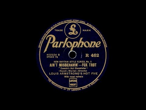 Louis Armstrong - Ain't Misbehavin' (1929) [Master Pressing]