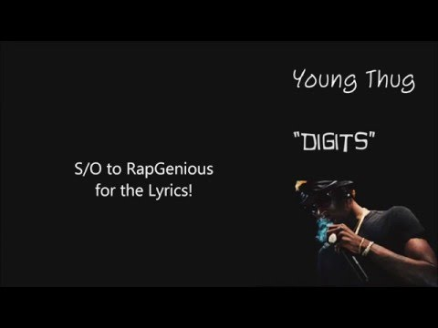 Young Thug -  Digits (Lyric Video)