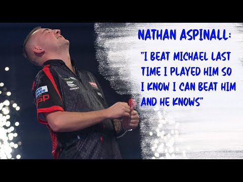 """Nathan Aspinall: """"I beat Michael last time I played him so I know I can beat him and he knows"""""""