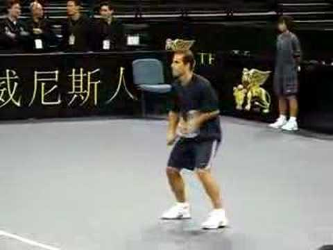 Pete Sampras Court Practice Prior to Match (Venetian Macao)