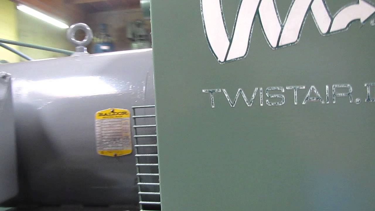 joy twistair 25 hp rotary screw air compressor 460v ingersoll rand rh youtube com