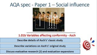 Asch, Variables affecting conformity - Social Influence (1.01b) Psychology AQA paper 1