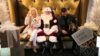 Jesse Metcalfe & Cara Santana Visit SANTA For Beverly Center's 3rd Annual