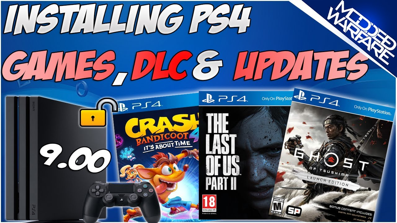 (EP 4) How to Install PS4 Games, DLC & Updates (7.55 or Lower!)