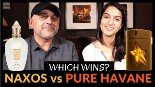 Xerjoff Naxos vs Mugler Pure Havane Review W/ Ashley | Fragrance Review