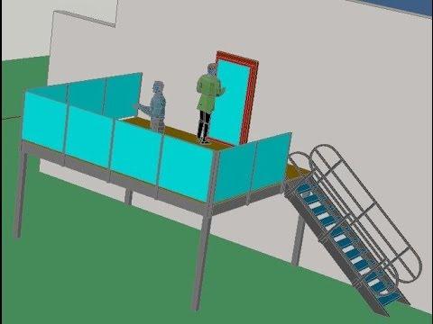 Terrasse ext rieur pour maison d 39 habitation mezzanine lame composite yo - Construire une mezzanine suspendue ...