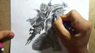 Pencil Drawing - Zed