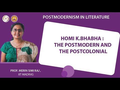 Homi K.Bhabha : The Postmodern and the Postcolonial