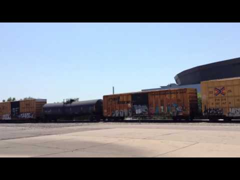 BNSF Mixed Freight Train in Oldtown Wichita KS