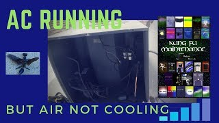 AC Outside Fan Running But Air Conditioner Not Cooling HVAC Real Time Repair Video
