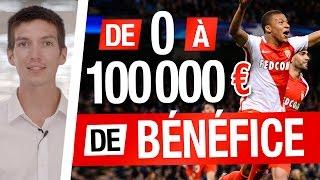 LIVE : De 0 à 100 000 EUROS de BÉNÉFICE (4 STRATÉGIES PARIS SPORTIFS)
