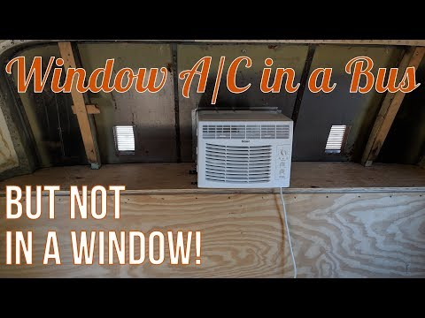 Installing A Window A/C In The Bus (but Not In A Window)