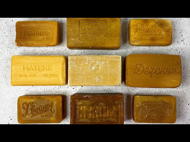 OLD SOAP! Soap Cutting ASMR. Relaxing Sounds (no talking). Satisfying ASMR Video. Asmr soap