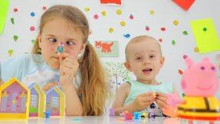 Видео для детей: СВИНКА ПЕППА игрушки для детей. Ксюша Дети и родители. Peppa pig toys(Ты любишь смотреть мультфильмы Свинка Пеппа (Peppa Pig)? Тебе нравятся смотреть видео для детей с игрушками?..., 2016-06-14T09:49:19.000Z)