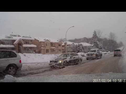 Winter driving in Vancouver, Canada February 4 2017
