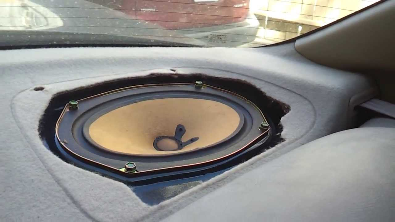How To Remove Honda Accord 98 02 Rear Deck Cover Speaker