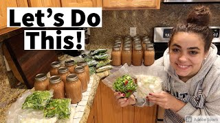 HUGE Food Preservation day! Wİll I get it all done??