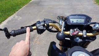 How to Countersteer - ONE FINGER Demonstration