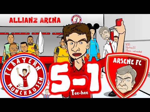 5-1 BAYERN vs ARSENAL! 🎤Bayern Mambo No 5: The REMAKE🎤(Champions League 2017 Goals Highlights)