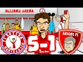 😂BAYERN MAMBO No 5-1! Ep2😂 BAYERN MUNICH vs ARSENAL! (Champions League 2017 Goals Highlights)