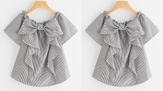 DIY Designer Ruffled Baby Top For 10 To 12 Year Cutting & Stitching Full Tutorial