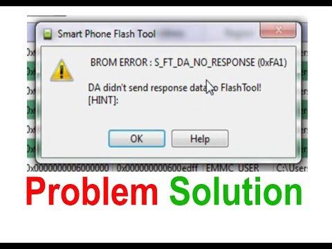 BROM ERROR : S_FT_DA_NO_RESPONSE