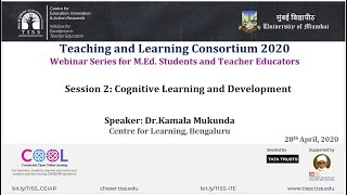 [COOL Webinars | TALC 2020 | Teacher Education] Session 2: Cognitive Learning and Development