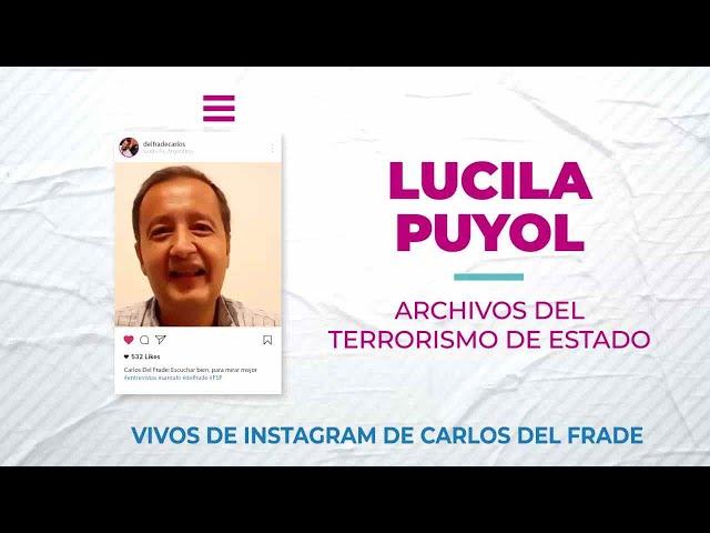 Carlos Del Frade con Lucila Puyol sobre los archivos del terrorismo de estado