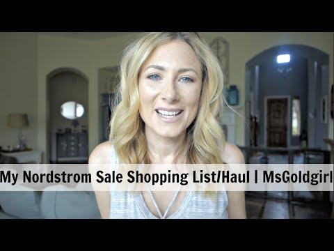 My Shopping List/Haul for Nordstrom Anniversary Sale | MsGoldgirl