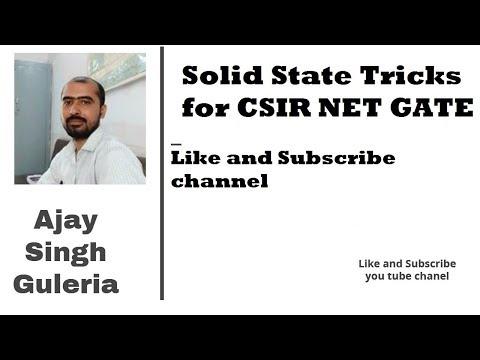 Solid State Chemistry Short Tricks CSIR NET Gate (Part One)