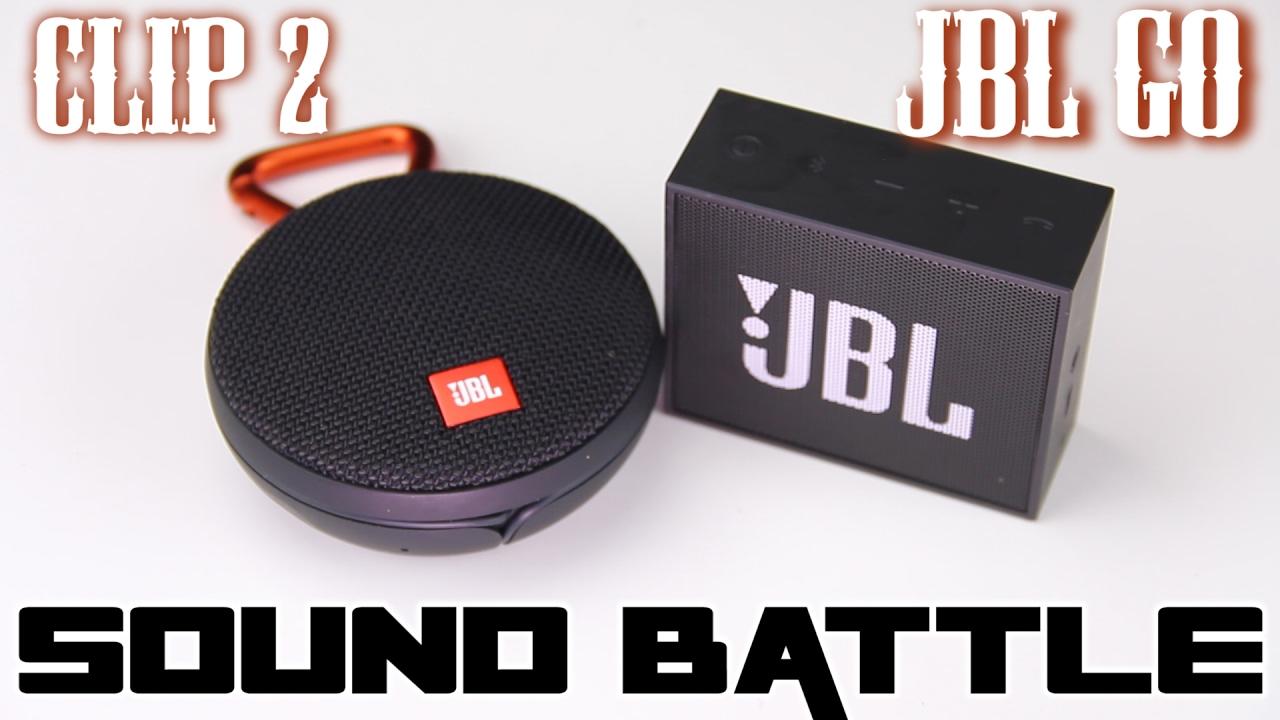 JBL GO VS JBL CLIP 2  SOUND BATTLE - The real sound comparison (Binaural  recording) 3b5b87613b9cd
