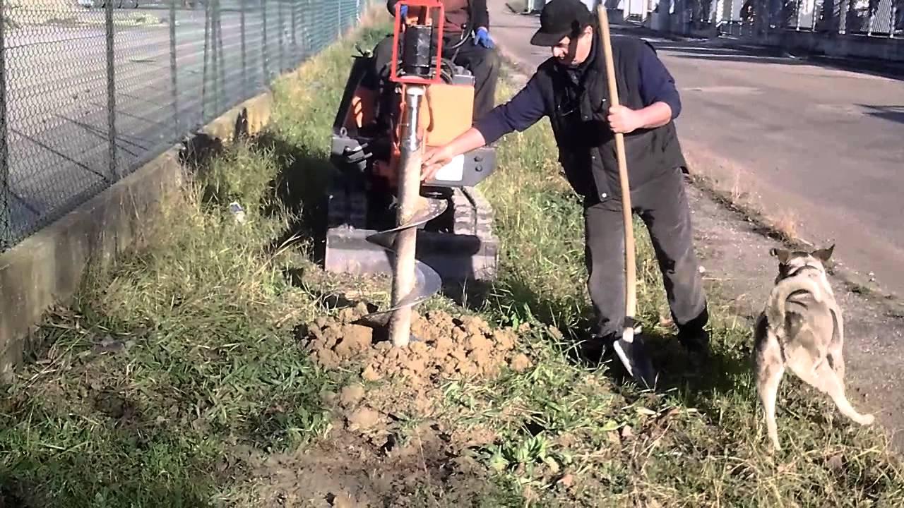 Trivella Per Escavatore Youtube