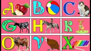 a for apple,ABCD song,Children songs, Nursery rhymes, learn english varnamala
