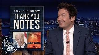 Thank You Notes: Biden's Press Conference, Godzilla vs. Kong | The Tonight Show
