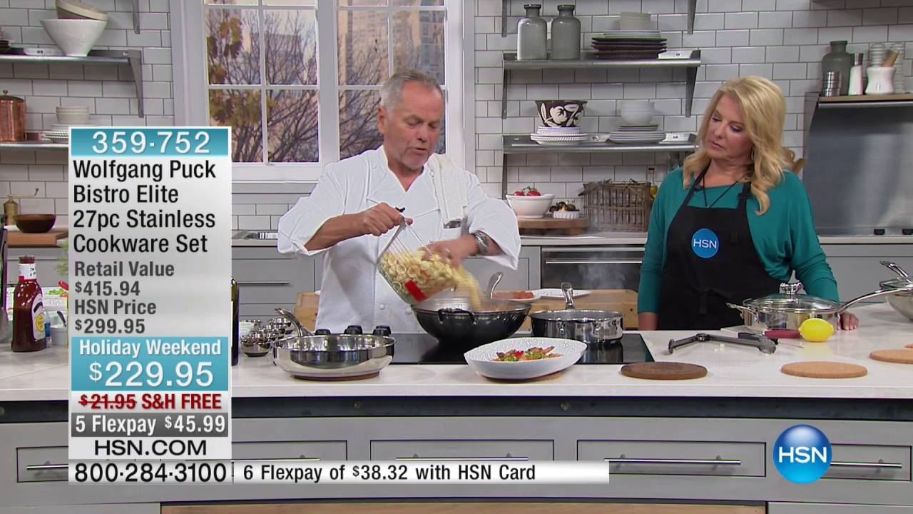 Wolfgang Puck Bistro Elite 27pc Stainless Cookware Set - YouTube
