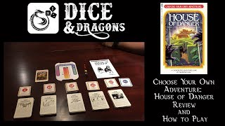 Dice and Dragons - Choose Your Own Adventure House of Danger Review and How to Play