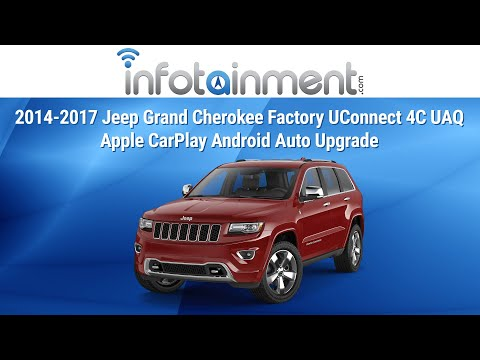 2014-2017 Jeep Grand Cherokee Factory UConnect 4C UAQ Apple CarPlay Android Auto Upgrade