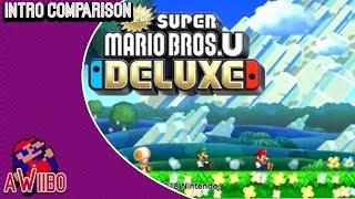New Super Mario Bros. U Deluxe - Intro Comparison (Wii U vs. Switch)