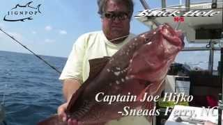 Grouper fishing with Black Hole Cape Cod Special Custom 450g Rod in NC