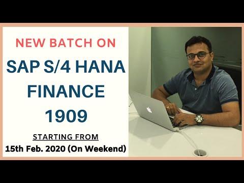 SAP S/4 HANA Finance 1809 Online Training/ Certification | Introduction SAP Simple Finance