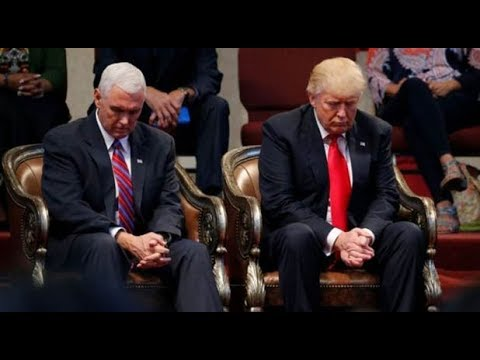 Trump Mocks Pence's Religion: 'Did Mike Make You Pray?'