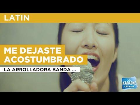 Me Dejaste Acostumbrado : La Arrolladora Banda El Limón De René Camacho | Karaoke With Lyrics