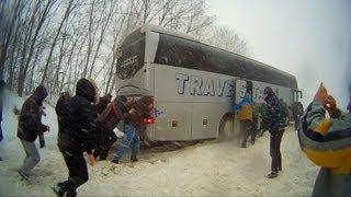 Снежный занос автобуса NEOPLAN !(, 2013-03-18T20:10:37.000Z)