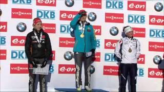 Валя Семеренко - чемпіонка світу з біатлону !Гімн України на честь переможниці