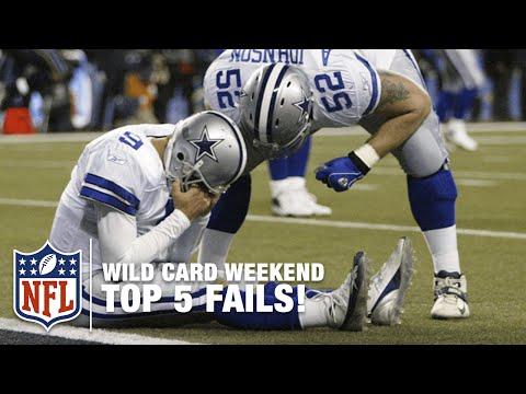 Top 5 Wild Card Weekend Fails | NFL Now