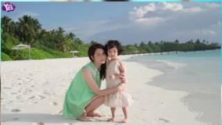 洪欣張丹峰一家海邊度假 女兒長大不少可愛十足