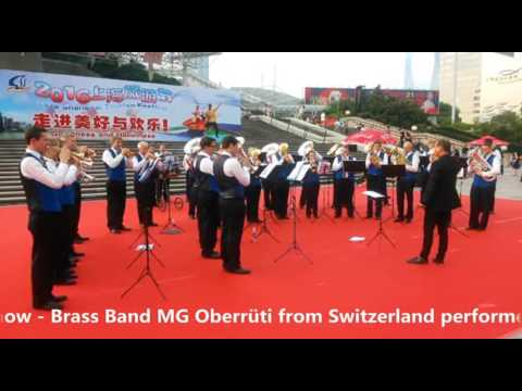 2016 Shanghai Tourism Festival public show-Brass Band MG Oberrüti, Switzerland-3