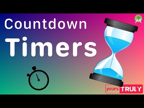 Countdown Timers In Android