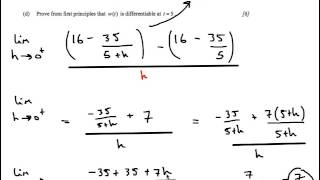 ib hl mathematics calculus option mvt l hopital continuous functions past paper worked solutions